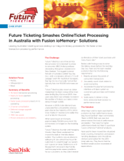 Future Ticketing Smashes Online Ticket Processing in Australia with Fusion ioMemory Solutions