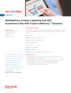 WeMakePrice Creates Lightning Fast B2C eCommerce Site with Fusion ioMemory Solutions