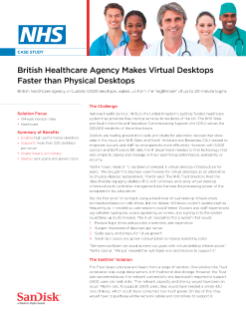 NHS British Healthcare Agency Makes Virtual Desktops Faster than Physical Desktops