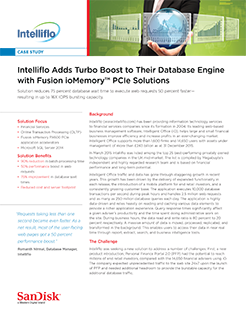 Intelliflo Adds Turbo Boost to Their Database Engine with Fusion ioMemory PCIe Solutions