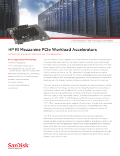 HP RI Mezzanine PCIe Workload Accelerators