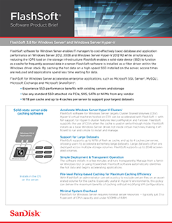 Data Sheet: FlashSoft 3.8 for Windows Server & Windows Server Hyper-V