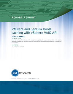 VMware and SanDisk Boost Caching with vSphere VAIO API