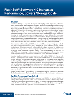 EMA Impact Brief: FlashSoft Software 4.0 Increases Performance, Lowers Storage Costs