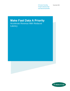 Forrester Fast Data Ananlyst Report